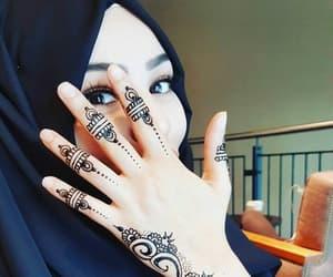art, henna, and hijab image