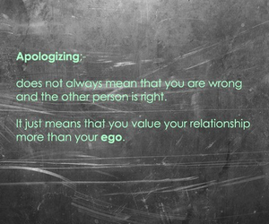 quote, apologize, and ego image