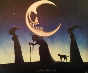 art, moon, and Witches image