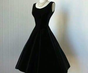 black, black dress, and classic image