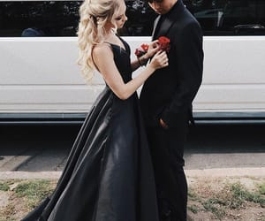 black, couple, and dress image