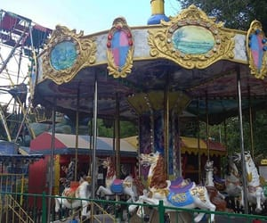 carousel, horse, and mel image