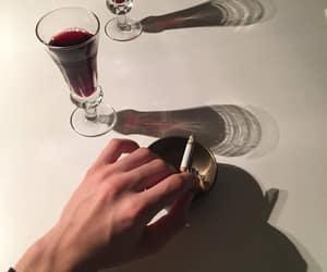 cigarettes, night, and wine image