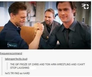 chris hemsworth and tom hiddleston image