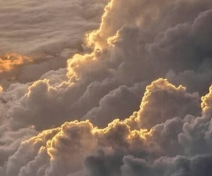 clouds, dreamy, and sunset image
