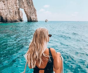 travel, adventure, and beach image