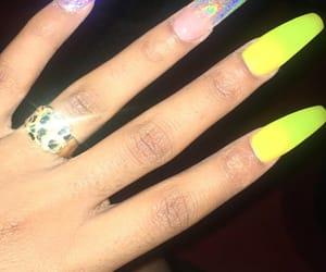 acrylic, nails, and fake nails image