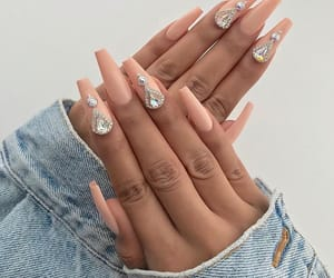 acrylic, gems, and nails image