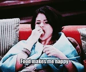 food, selena gomez, and happy image