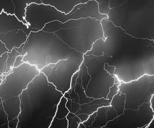 lightning, black and white, and light image