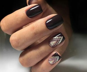art, black, and nails image