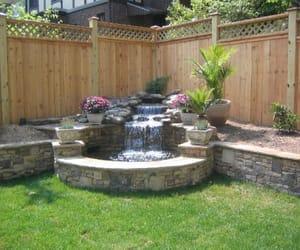 backyard, diy, and fountains image