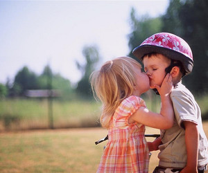 love, kiss, and kids image