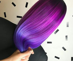 pink hair, purple hair, and styles image