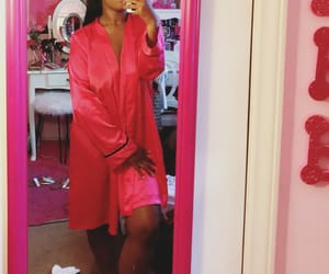 pink nation, silk robe, and pink image