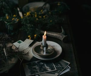 candle, dark, and witch image