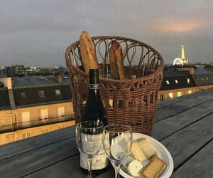 wine, paris, and view image