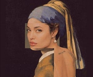 art, painting, and vermeer image