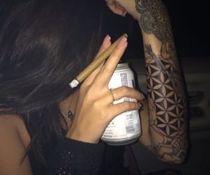 420, blunt, and beer image