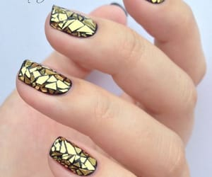 nail art, threads, and french manicure image