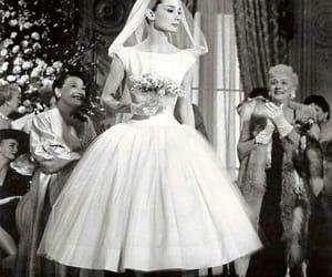 audrey hepburn, dress, and wedding dress image