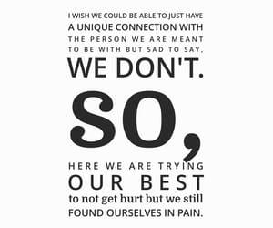 depression, love quotes, and pain image