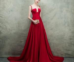 girl, see through, and satin dress image
