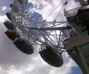 blue sky, london eye, and great time image