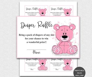 etsy, girl baby shower, and baby shower games image