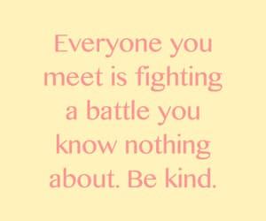 battle, kindness, and cornerstone image