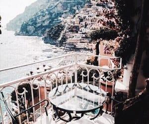 balcony, landscape, and city image