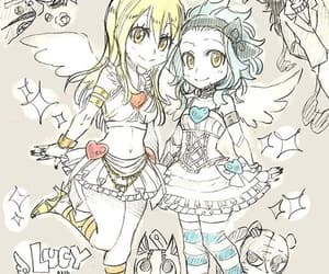 levy, fairy tail, and Lucy image