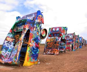 sculpture, american art, and cadillac ranch image