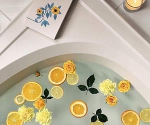 bath, yellow, and aesthetic image