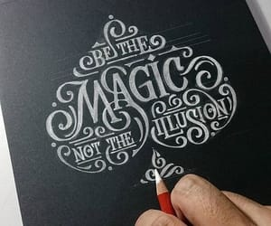 art, magic, and typography image