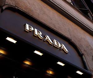 Prada, store, and luxury image