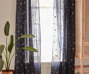 stars, blue, and curtains image