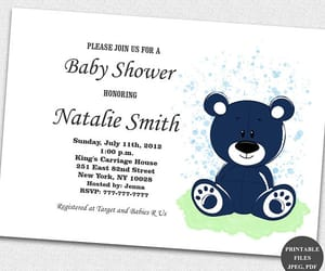 etsy, girl baby shower, and shower invitations image