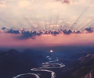 landscape, river, and sky image
