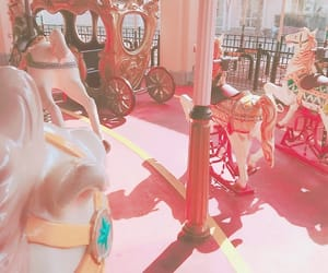 pink, 夢幻, and 旅行 image