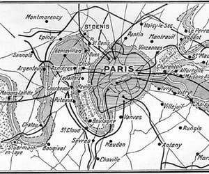 carte, france, and paris image