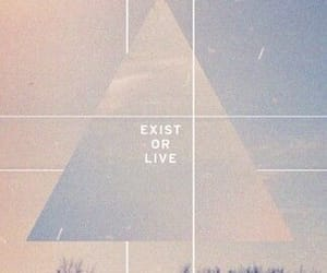 triangle, quotes, and exist image