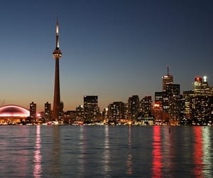 city, lights, and toronto image
