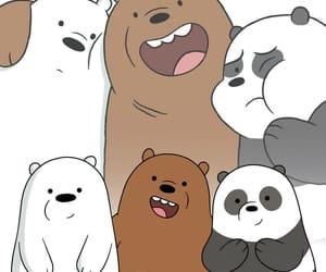 cartoon, panda, and wallpaper image