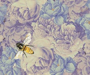 background, bee, and wallpaper image