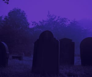 blue, cemetery, and Darkness image