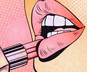 lipstick, art, and lips image