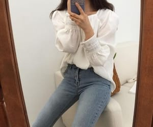 asian, fashion, and jean image