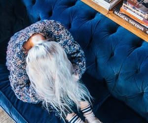billie, hair, and blue image