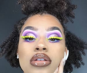 curly hair, lips, and xxco image